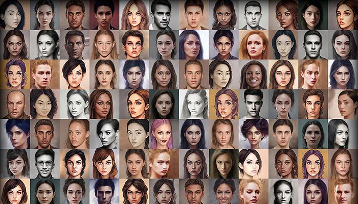Character Portrait Mega Pack #4 • 1700+ hi-res portraits!