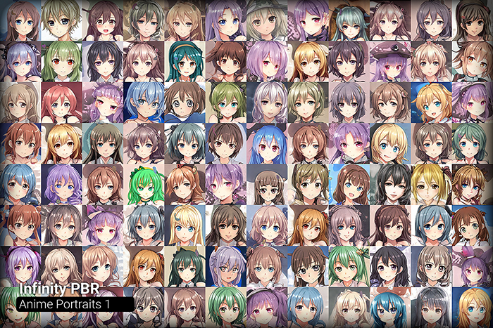 Anime Portrait Mega Pack #1 • 250+ hi-res portraits!