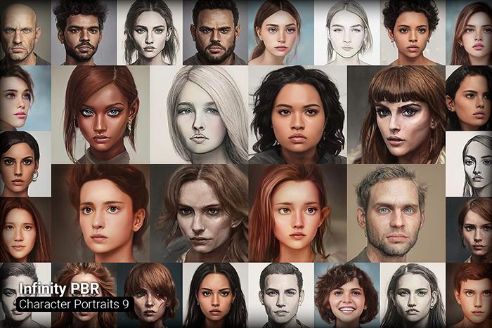 Character Portrait Mega Pack #9 • 1300+ hi-res portraits!