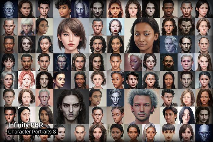 Character Portrait Mega Pack #8 • 1300+ hi-res portraits!