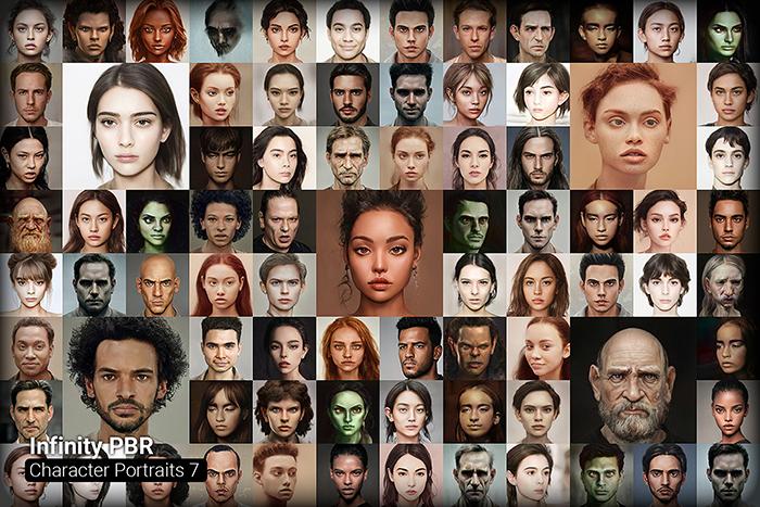 Character Portrait Mega Pack #7 • 1600+ hi-res portraits!
