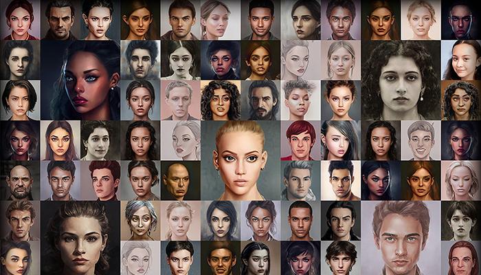 Character Portrait Mega Pack #6 • 1600+ hi-res portraits!