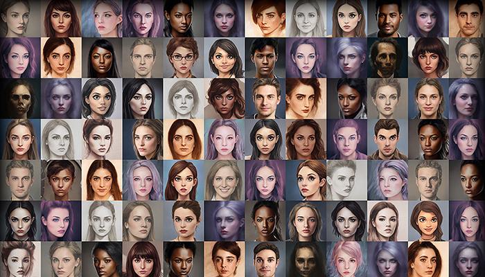 Character Portrait Mega Pack #5 • 2100+ hi-res portraits!