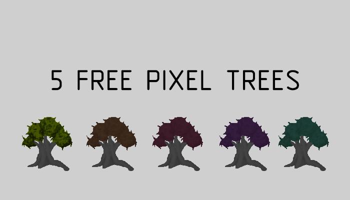 Free pixel trees asset