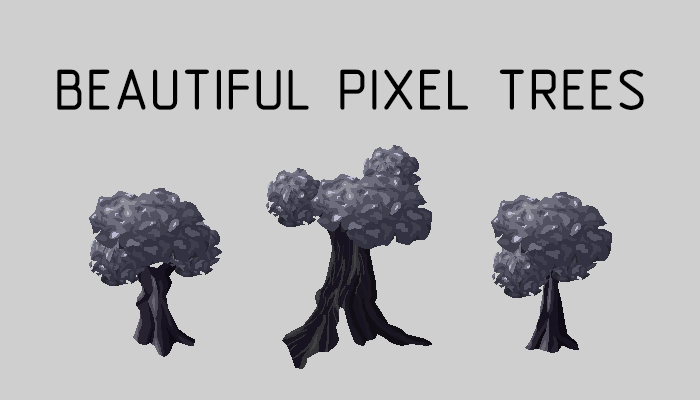 Beautiful pixel trees