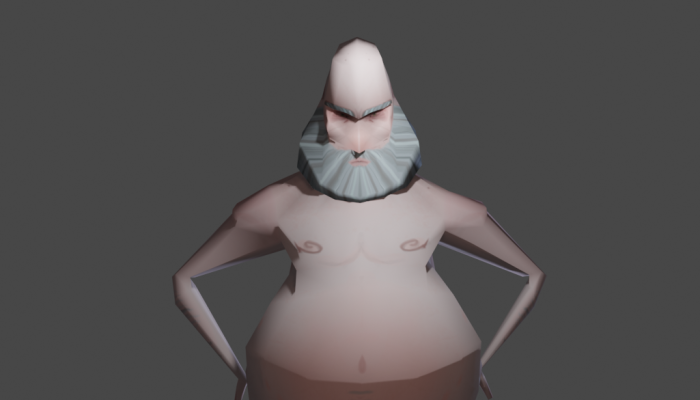 Low-poly grandfather, man