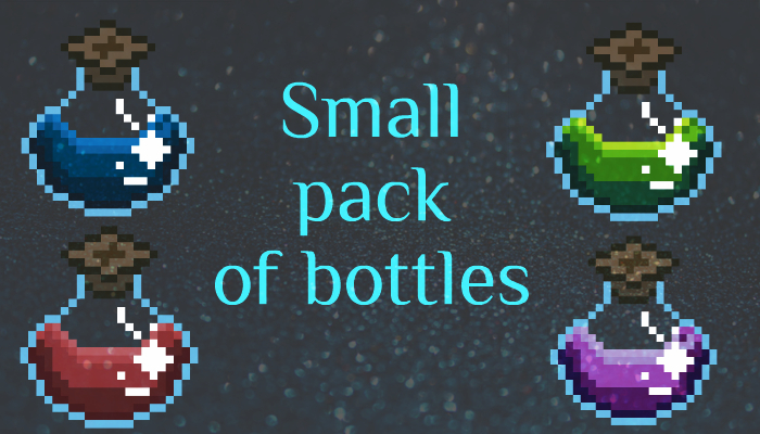 Small pack of pixel bottles