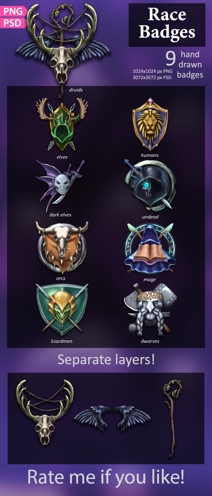 Race Badges/Emblems