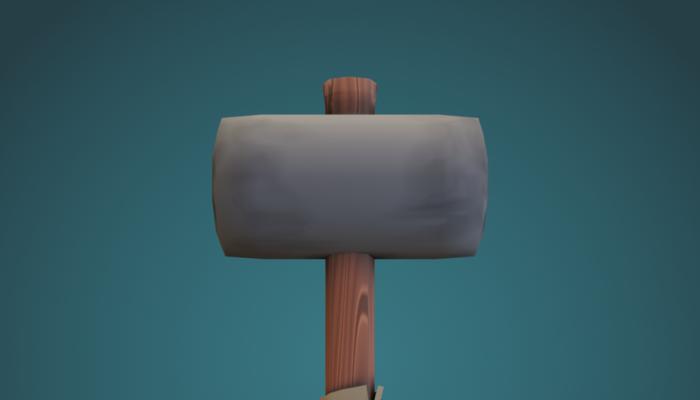 3D Toon Handpainted Hammer