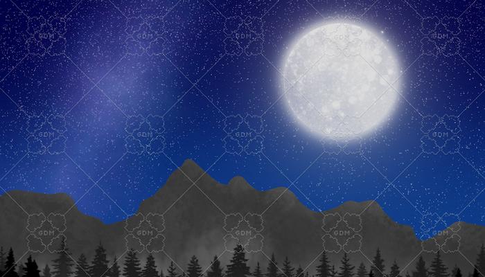 Night Forest Parallax Background