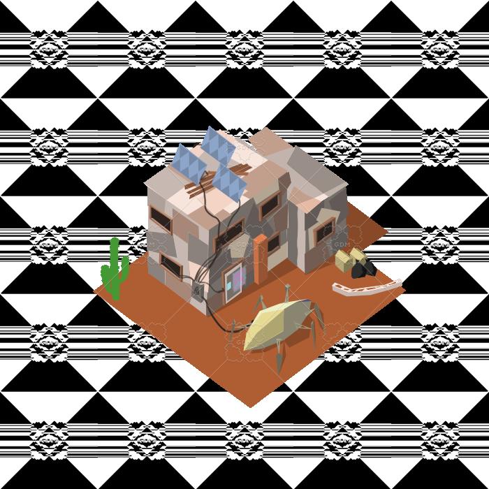 cyberpunk style house