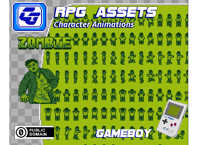 RPG Asset Character 'Zombie' GB