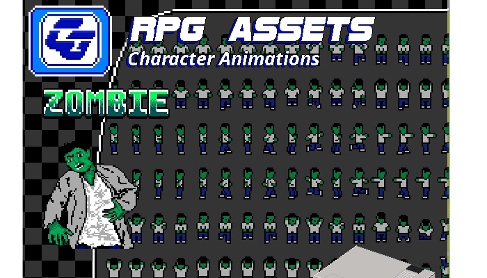 RPG Asset Character 'Zombie' NES