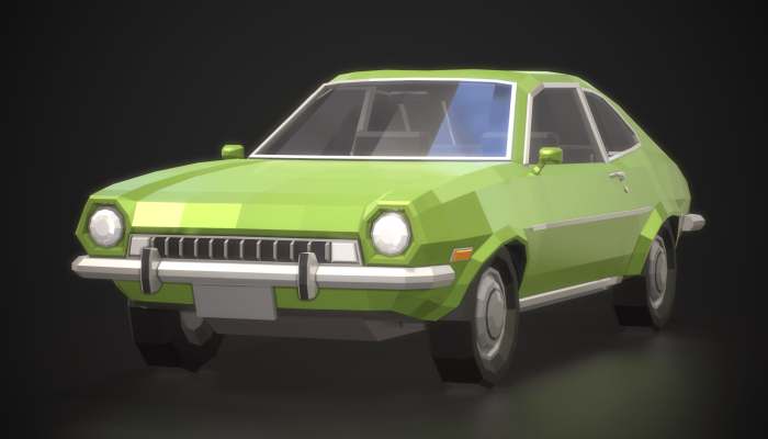 Low-Poly Retro City Car 01