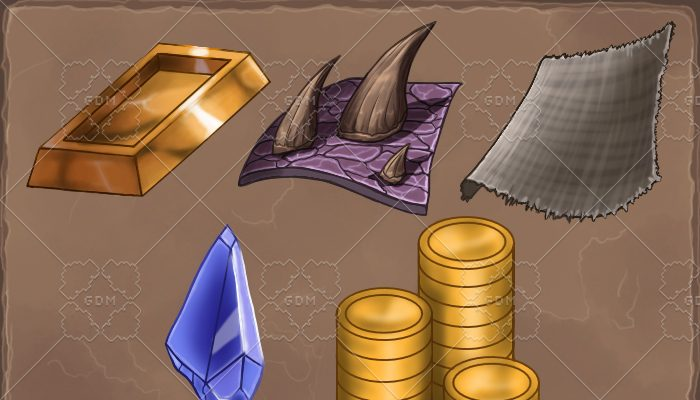 materials for Crafting and currency