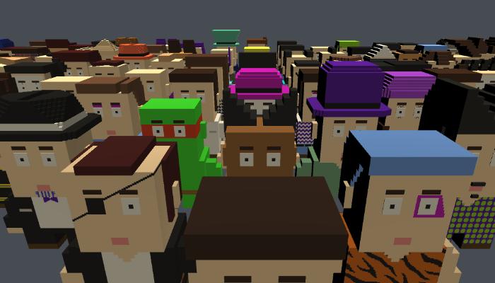 Mini Block Character Creator [Unity,FBX]