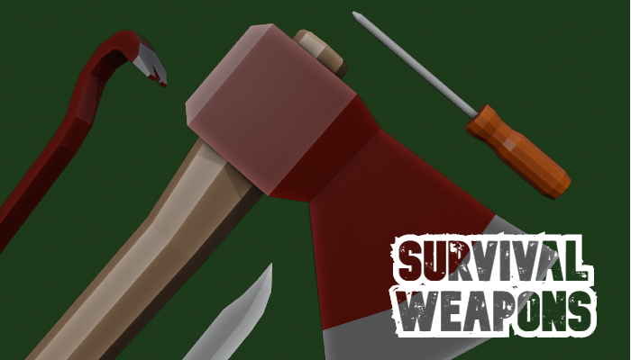 Survival Weapons Pack – Low Poly Free