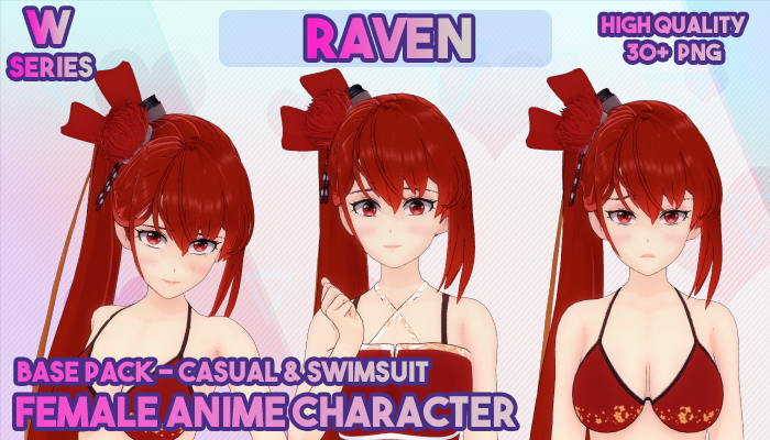 W SERIES(FULL BODY) FEMALE ANIME CHARACTER – RAVEN