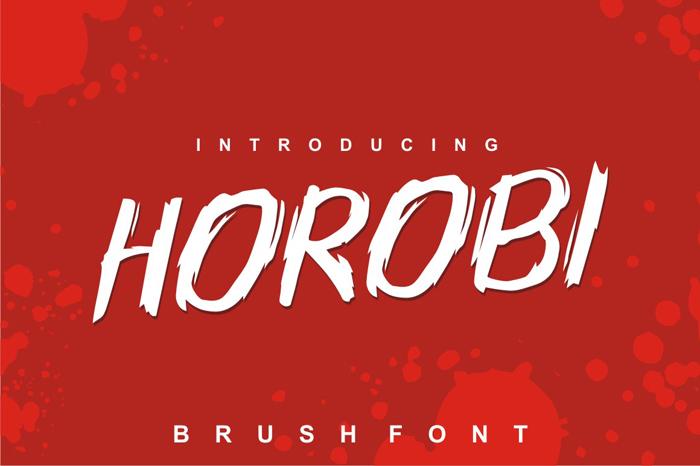 HOROBI Brush Fonts