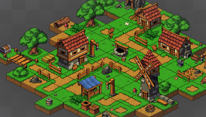 2D Isometric Village