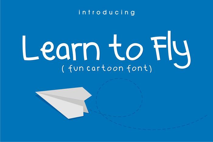 LEARN TO FLY – Fun Cartoon Fonts