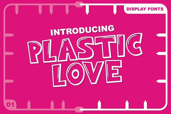 PLASTIC LOVE Plastic Fonts