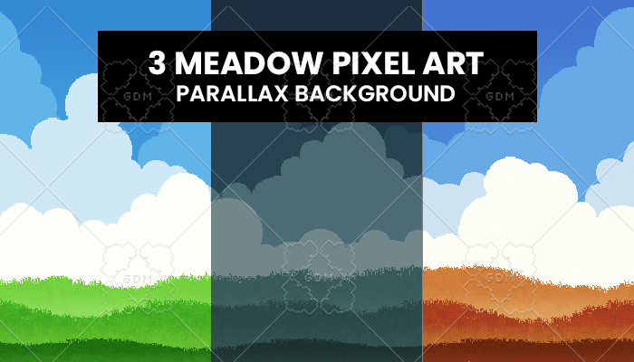 Meadow pixelart Parallax Background