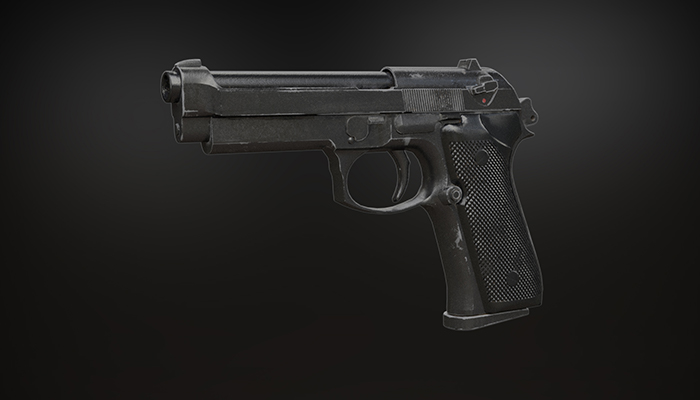 Low poly M9 pistol