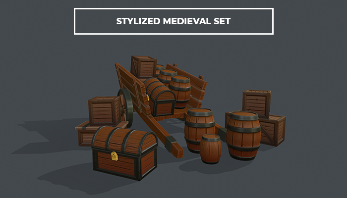 Stylized Medievel Caravan Set