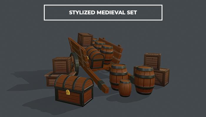 Stylized Medievel Caravan Set