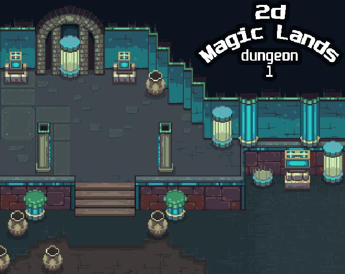 2D Magic Lands Dungeon 1