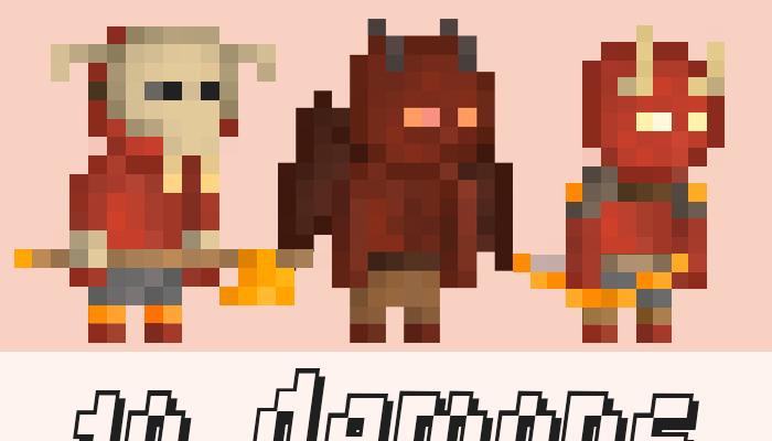 10 Pixel Demon Warriors