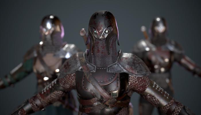 Dark medieval warrior
