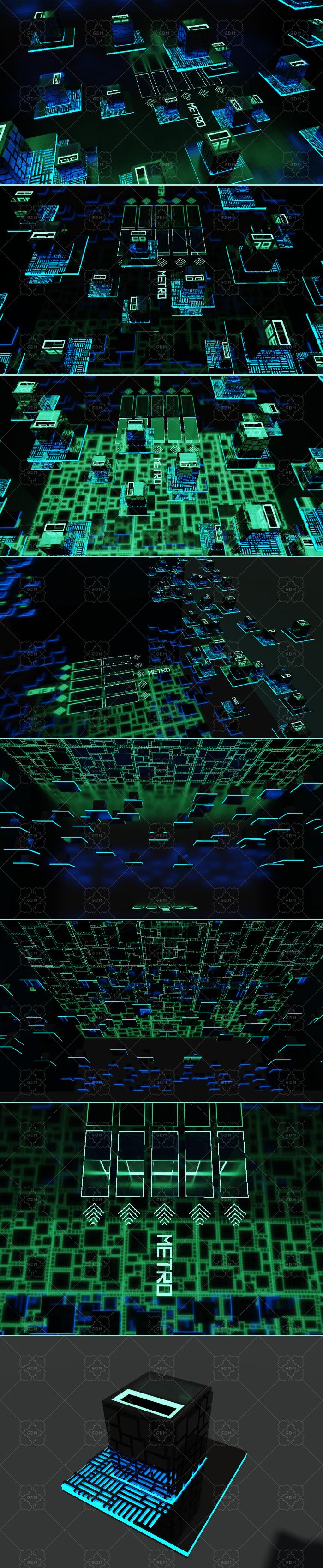 3D neon city (cyberpunk)