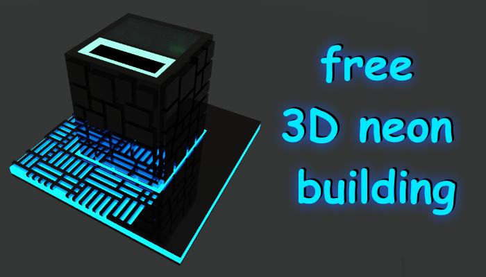 3D neon building