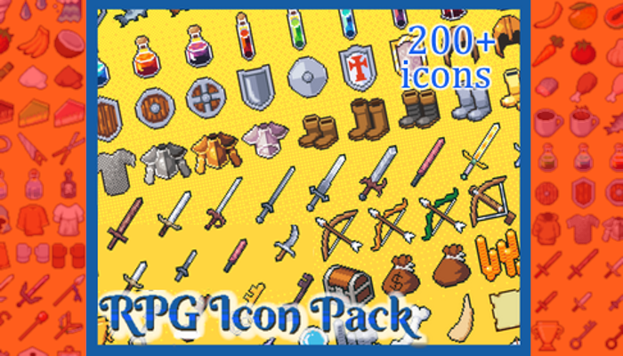 RPG Icon Pack 32×32 (200+ icons)