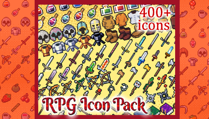 RPG Icon Pack 16×16 (400+ icons)