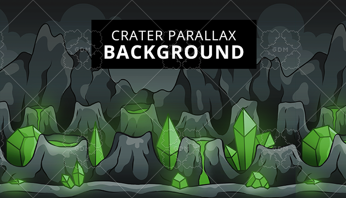 Crater Parallax Background
