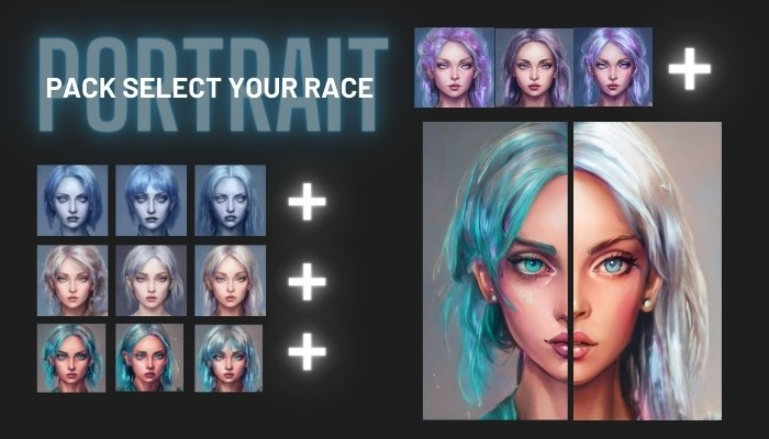 Portraits Pack – select your race