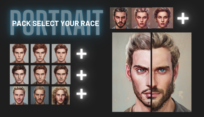 Portraits pack – Select your race #2