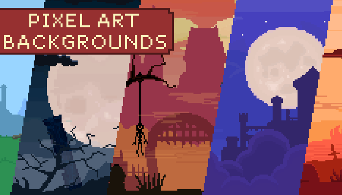 2D Pixel Art Medieval Backgrounds Pack