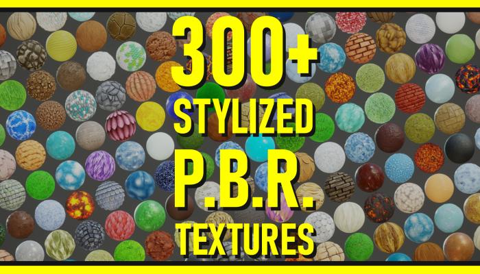 Stylized PBR Textures Bundle