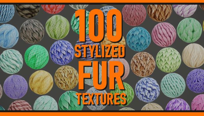 Stylized Fur Textures Bundle