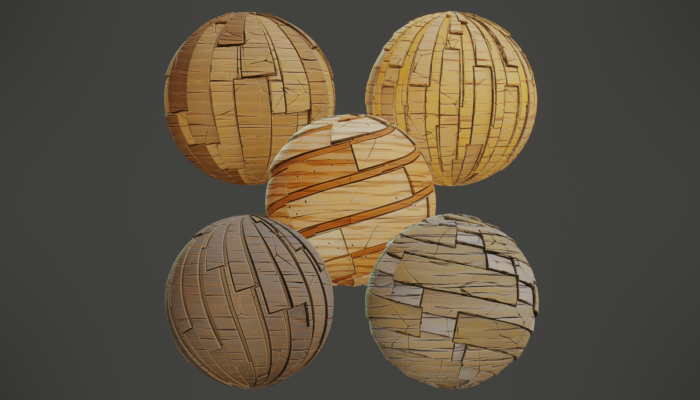 Stylized PBR Wood Planks Textures