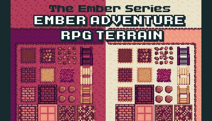 Ember Adventure RPG Terrain – 2D Autotile Pixel Asset Pack – Ember Series