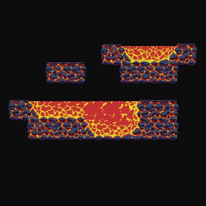 small pixel lava cave asset