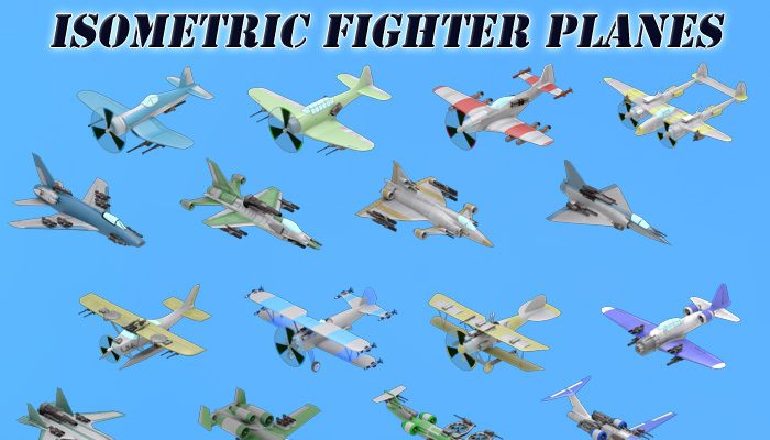 Isometric Fighter Planes