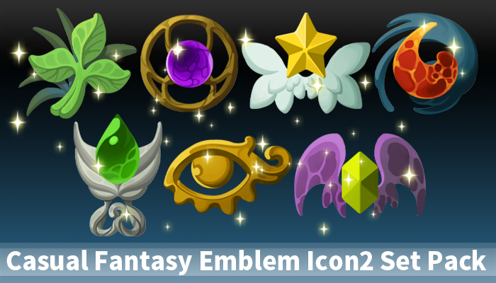 Casual Fantasy Emblem Icon2 Set Pack
