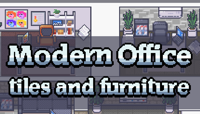 Modern Office [16×16] [tilesets and furniture]