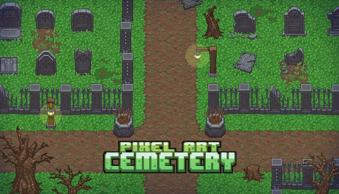 Pixel Art Cemetery